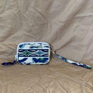 Vera Bradley White Floral Tech Case